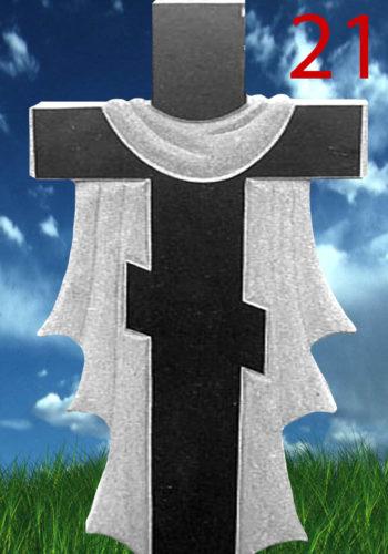 Гранитный памятник в виде креста