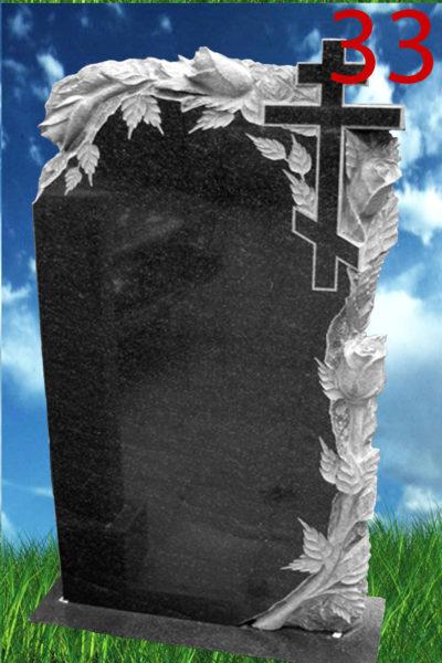 Фигурная резка на камен - ветви роз