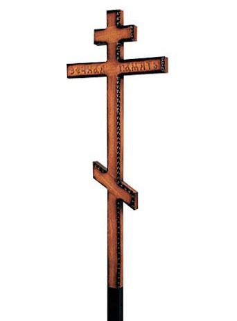 крест дуб резной