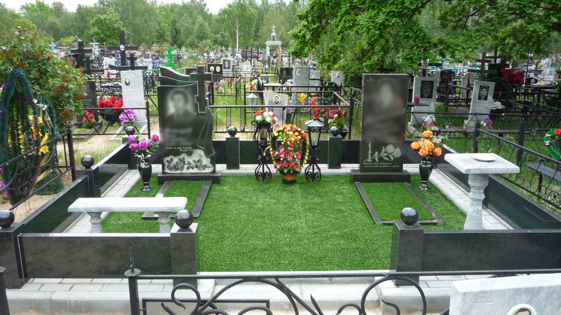 Благоустройство могилы плиткой Котовск